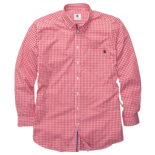 The Goal Line Shirt - Red Gingham